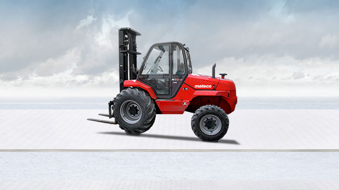 Rough terrain forklifts and Gators